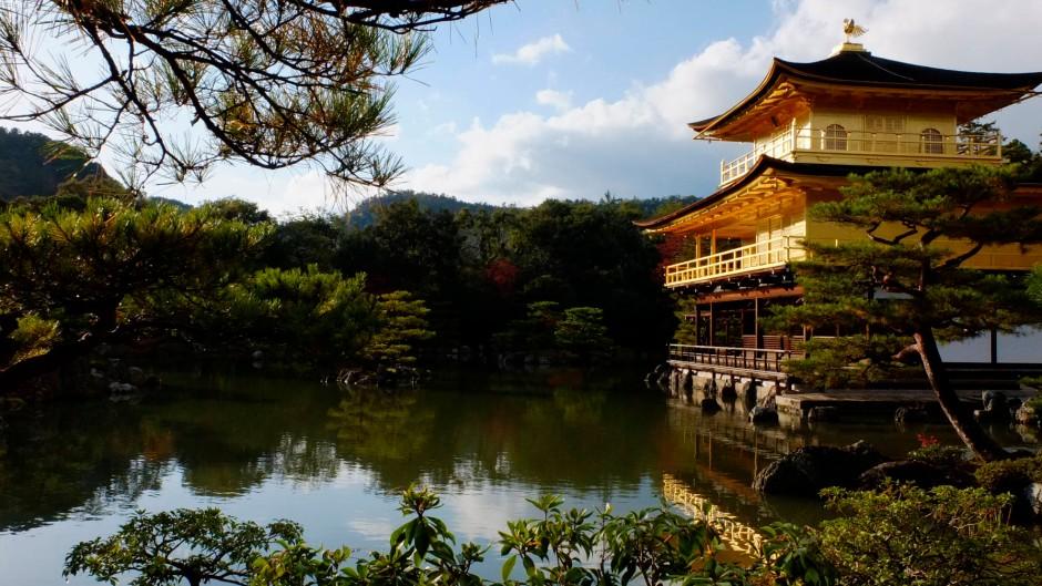 Der goldene Pavillon-Temple in Kyoto