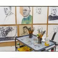 Aufgeräumter Arbeitsplatz: Atelier von David Hockney