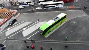Erste Haltestellen für Fernbusbahnhof