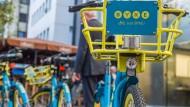 Signalfarben: das Berliner Start-up Byke unterscheidet sich nicht nur farblich von der Konkurrenz.