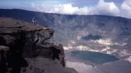 Weggesprengt: Vom 4200 Meter hohen Tambora auf der indonesischen Insel Sumbawa blieb nach der gigantischen Explosion im April 1815 kaum mehr als die Hälfte übrig.