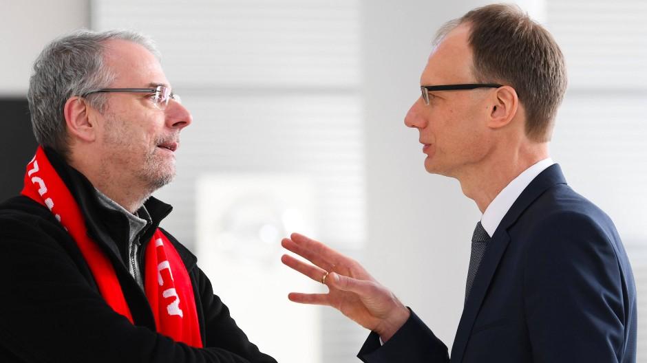 Einigungsfähig: Betriebsratsvorsitzender Wolfgang Schäfer-Klug und Opel-Chef Michael Lohscheller