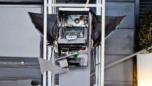 Geldautomat gesprengt: Verdächtiger festgenommen