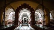Gekachelt: Tunnel im unterirdischen Wasserreservoir im Boehlepark