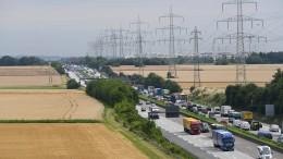 A5 nahe Frankfurt am Wochenende komplett gesperrt