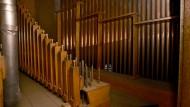 Tonlage: Blick in die Orgelkammer im Ostchor des Mainzer Doms