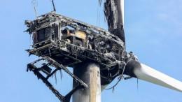 Windrad abgebrannt: 150.000 Euro Schaden