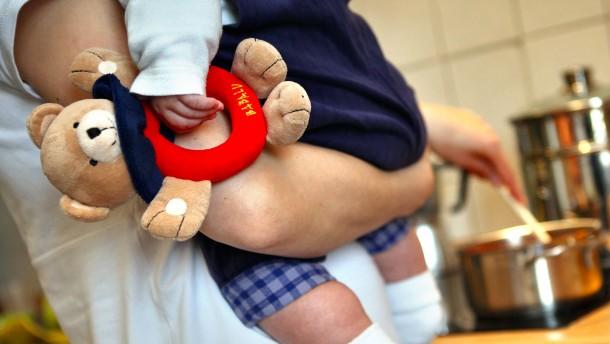 Zwischen Arbeiten und Kinderbetreuung
