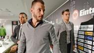 Ein Triumvirat für die Eintracht: Seit Sonntag sind für die Frankfurter Fußballprofis auch Fabian, Huszti und Ayhan am Laufen.