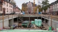 Weil die Stadt es so will: Obwohl unterirdisch gelegen, wird die Mensa der IGS Nordend in Passivbauweise errichtet.