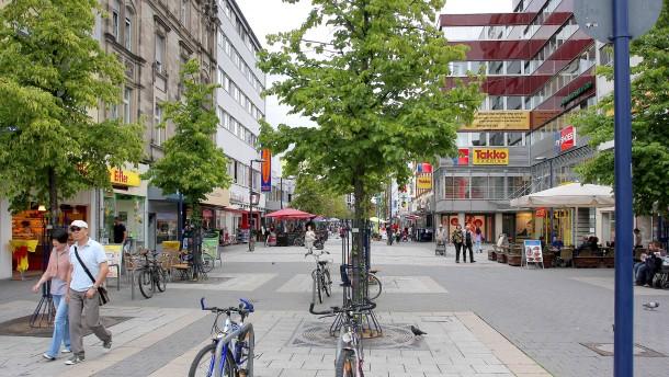 Radeln in offenbacher fu g ngerzone testweise durchweg erlaubt for Depot offenbach