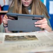 Multimedial: Zeitung lesen lässt sich auch per Tablet