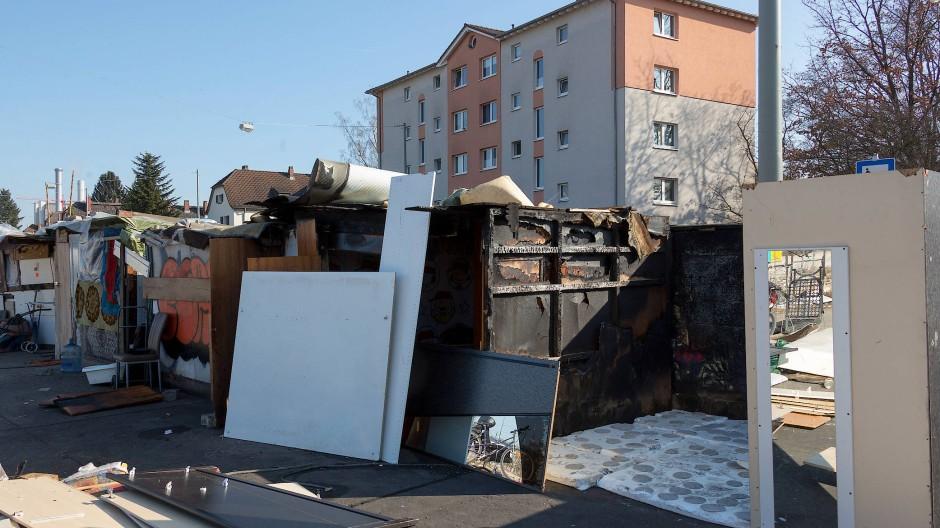 Roma-Siedlung in Frankfurt geräumt