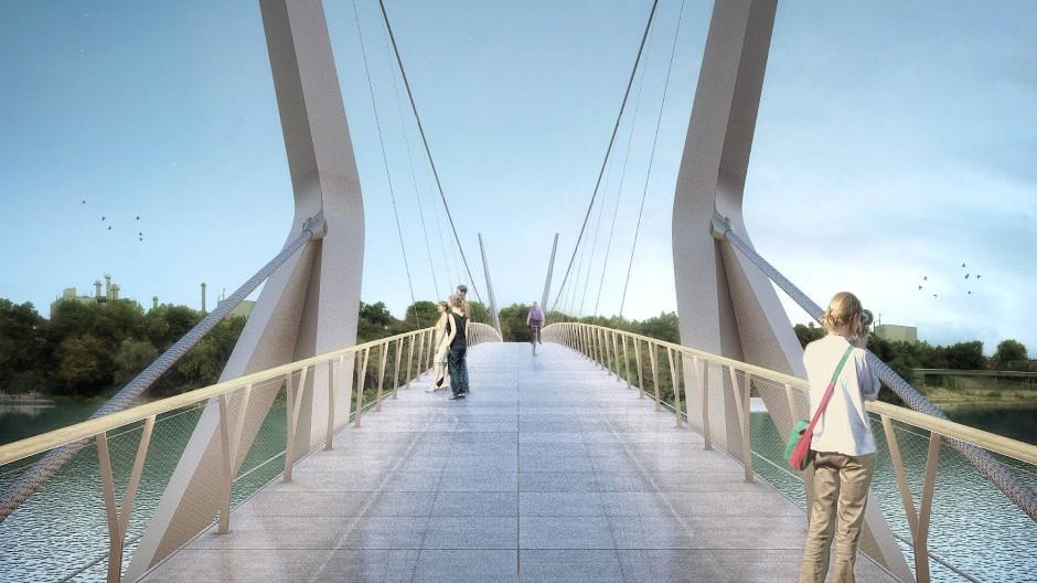 Kein Kraftverkehr: Die Brücke könnte für die Verkehrswende stehen.