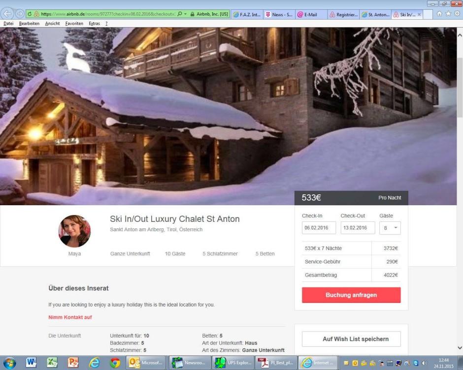 sofortüberweisung airbnb