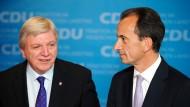 Hessisches Führungsteam: Ministerpräsident Bouffier (links) und der CDU-Fraktionschef Boddenberg