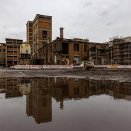 Wohnen statt Arbeiten: Auf dem Areal der früheren Phrix-Fabrik am Main entstehen Wohnungen.