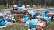 Rastplätze als Müllkippen