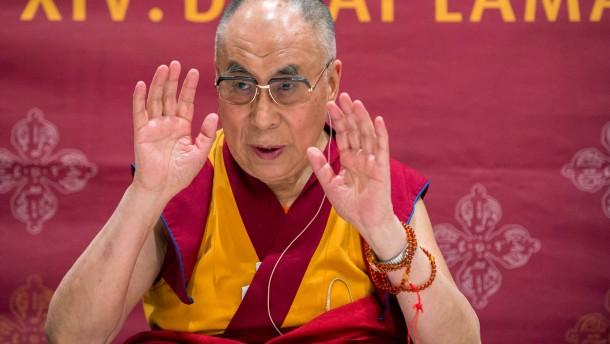 Dalai Lama bei Eröffnung des neuen Tibethauses