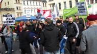 Eingeengt: Drängelei auf der Kundgebung in Weimar