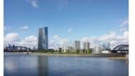 Ein Hochhaus kommt selten allein: Der EZB-Neubau bekommt auf dem Honsell-Dreieck Gesellschaft.