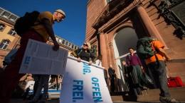 Besetzer verlassen Paulskirche freiwillig