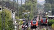 Läuft derzeit nicht normal: Bahnverkehr zwischen Friedberg und Bad Vilbel