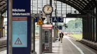 Kein Zug kommt: Stille im Wiesbadener Hauptbahnhof