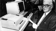 Pionier: Konrad Zuse, der weltweit als «Vater des Computers» gilt (Archivbild)