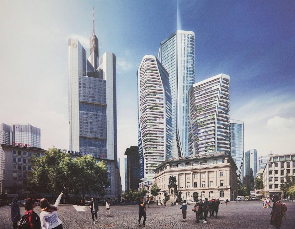 frankfurts skyline w chst mit neuen t rmen im bankenviertel. Black Bedroom Furniture Sets. Home Design Ideas