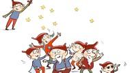 """Rasselbande: """"13 wilde Weihnachtskerle"""" heißt das Buch von Barbara van den Speulhof, aus dem die Autorin für F.A.Z-Leser helfen i nBad Homburg liest"""