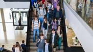 Drittgrößte Universität: Wer einen Platz bekommen will in der Vorlesung, muss zeitig da sein.