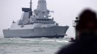 """Unterstützung für die Amerikaner: der britische Zerstörer """"HMS Duncan"""""""