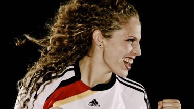 Ihr bislang letztes Hurra. Kim Kulig, für die Heim-WM 2011 in Szene gesetzt.