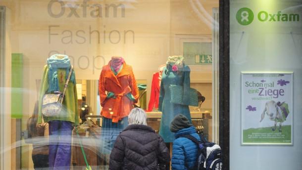 Oxfam - der Resteverwerter und Spendensammler hat sich in Frankfurt auf Mode-Shops spezialisiert