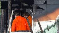 LKA untersucht Brand in Gartenhütte mit zwei Toten