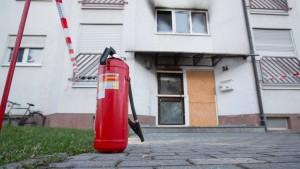 Feuer in hessischem Flüchtlingsheim