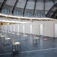 Startbereit: Das Impfzentrum in der Frankfurter Festhalle