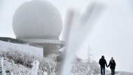 Grönlandluft mit Schneeflocken