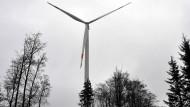 Eine von 87 neuen Anlagen in Hessen: Windrad nahe Heidenrod im Rheingau-Taunus