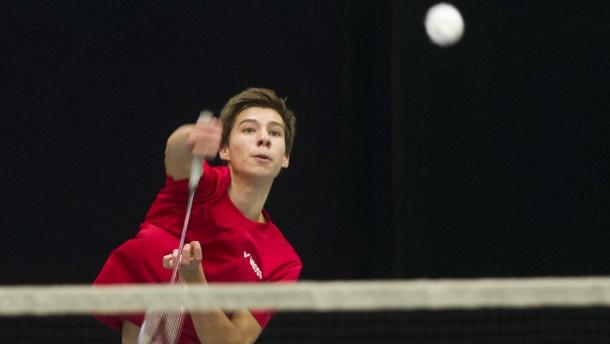 Badminton - Talentförderung im hessischen Verband mit Landestrainer Bernd Brückmann in der Landessportschule in Frankfurt.