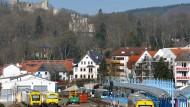 Bahnhof Königstein: Die Verbindung dorthin gehört zu den Stammstrecken der Landesbahn. Aber sie wird 2019 ausgeschrieben.