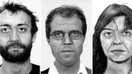 So sehen die Terroristen vielleicht heute aus: Burkhard Garweg, Ernst-Volker Staub und Daniela Klette (von links).