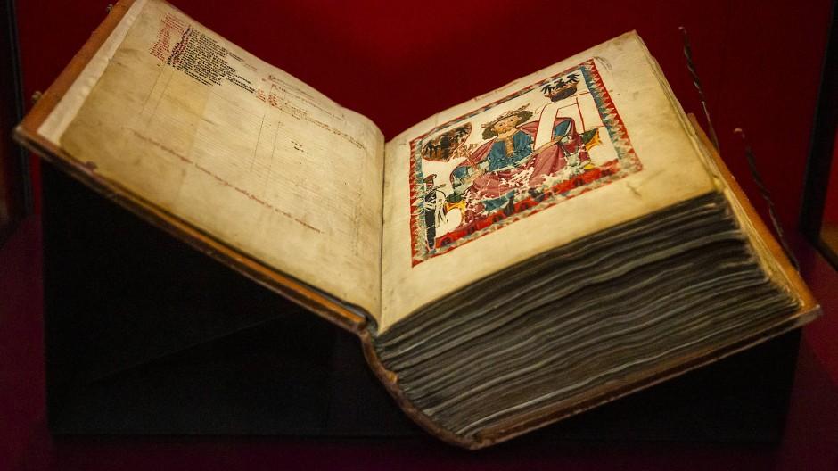 """Aufgeschlagen: die Heidelberger Liederhandschrift """"Codex Manesse"""""""