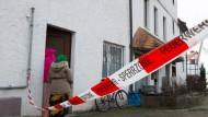 Tatort: Das durch einen Brand beschädigte Flüchtlingsheim in Helsa