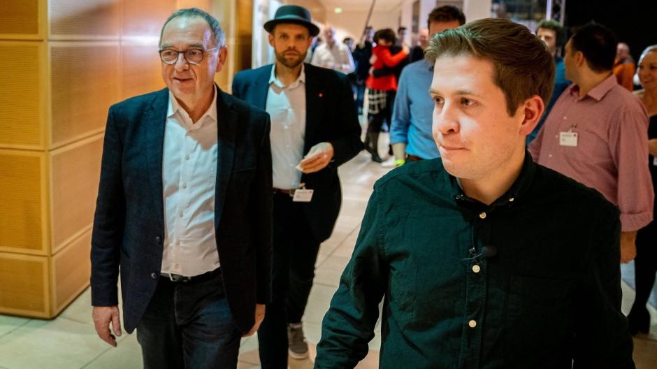 Das neue Dreamteam der SPD? Norbert Walter-Borjans und Kevin Kühnert (r.).
