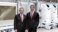 Fitmacher: Vorstandschef Stefan Rinck und Finanzvorstand Markus Ehret arbeiten an der Ertragswende von Singulus