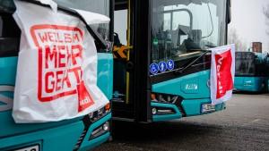 Verdi: Busfahrerstreik geht auch am Freitag weiter