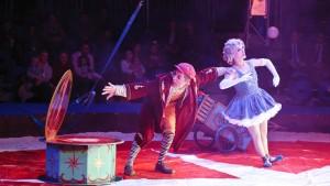 Clown mit Nikolausmütze