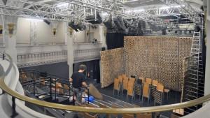 Polizeischutz am Staatstheater Wiesbaden